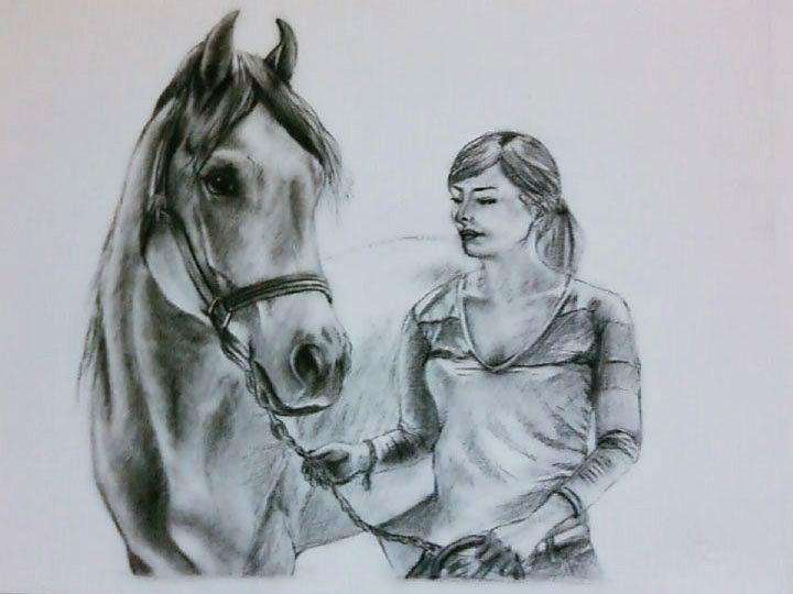 Galleria ritratti di cavalli quadri di cavalli disegni for Immagini disegni cavalli